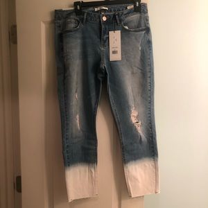 NEVER WORN! Dex Ripped, Acid Wash, Cropped Jeans